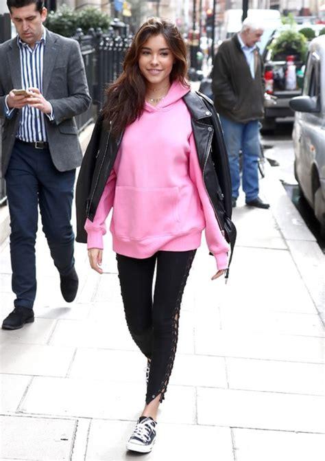 madison beer hoodie sweater hoodie madison beer streetstyle pink wheretoget