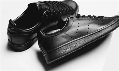 all black the black adidas originals stan smith has arrived
