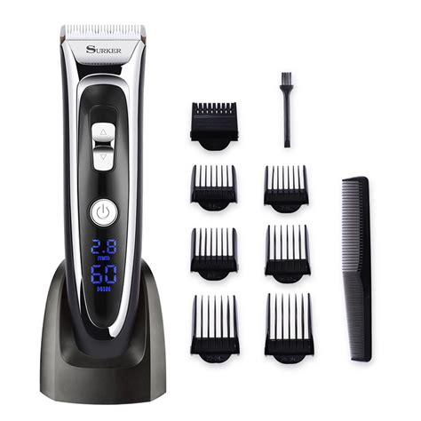 Exclusive Rechargeable Electric Hair And Beard Trimmer Wireless surker rechargeable hair clipper trimmer beard shaver cordless washable led display ceramic