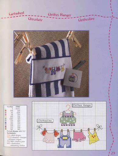 cross stitch pattern clothes line 22 best images about toallas en punto de cruz on pinterest
