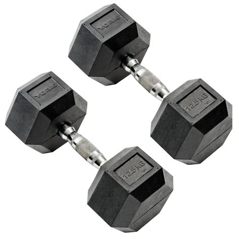 Rubber Hex Dumbbell Set With Rack by York 5 To 20kg Rubber Hex Dumbbell Set With A Frame Rack