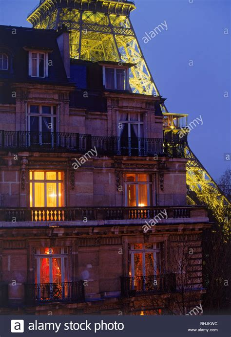 apartment at the top of the eiffel tower top floor apartment with eiffel tower at night in paris