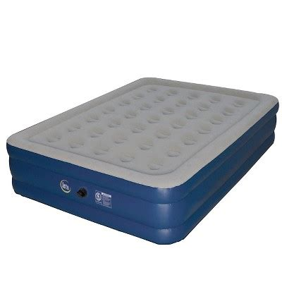 inflatable beds target serta perfect sleeper 18 quot raised double high air mattress