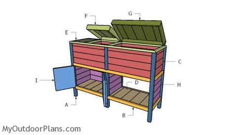 double wood cooler part  myoutdoorplans