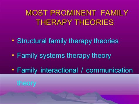 therapy theory family therapy theories used in family health care