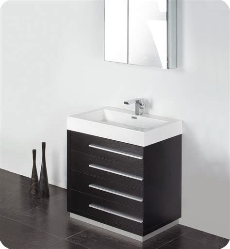 Fresca Livello 30 Quot White Modern Bathroom Vanity W Modern Sink Cabinets For Bathrooms