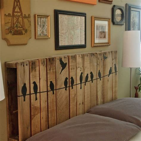 how to hang a headboard on the wall cathey with an e pallet love the finished product