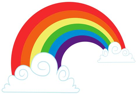 Clipart Arcobaleno - rainbow cloud vector clipart best