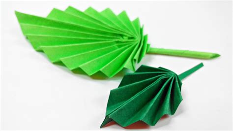 Paper Leaf Craft - origami leaf paper leaves diy design craft
