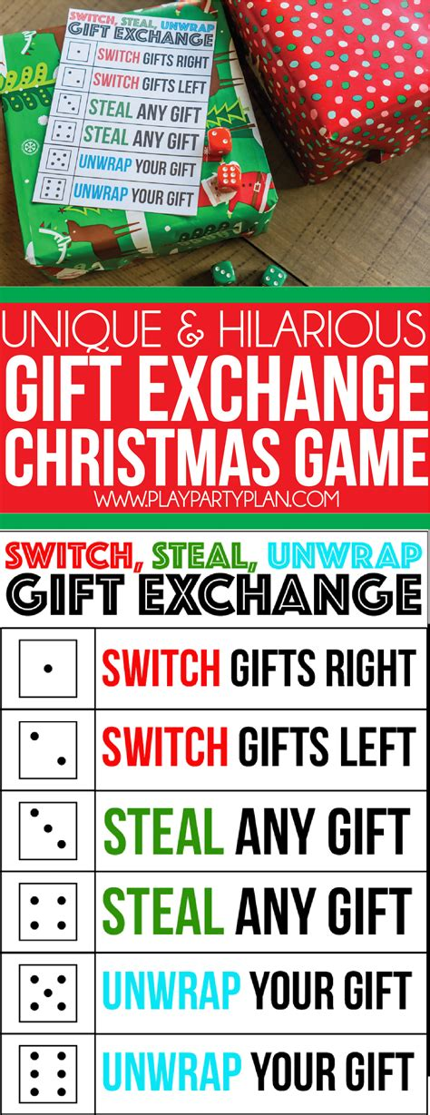 free printable christmas exchange games the best gift exchange game ever switch steal or unwrap