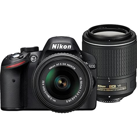nikon d3200 digital slr with 18 55mm vr lens nikon d3200 digital slr 18 55mm vr 55 200mm vr