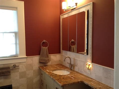 latest colors for bathrooms black red white and tan bathroom floor