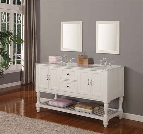 Vancouver Bathroom Vanity Vancouver 60 Inch Transitional Bathroom Vanity Pearl White
