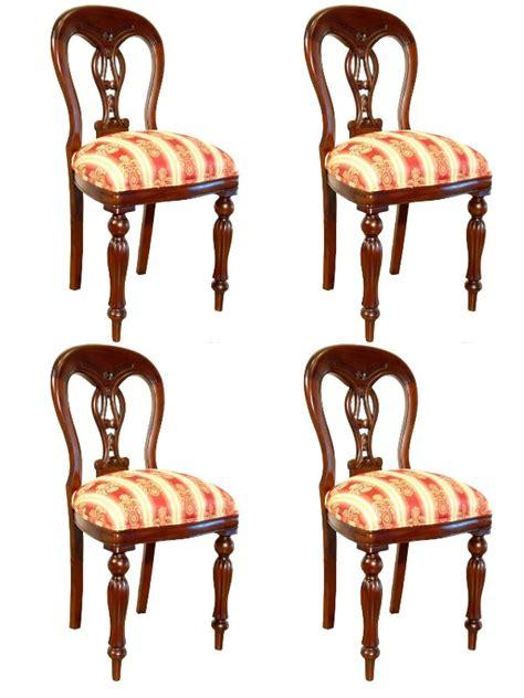 chaises de style 4 chaises chippendale en acajou meuble de style