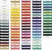 2011 Passenger Car Exterior Paint Chart 2004 2012 P Charts When Using