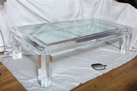 An American Lucite Coffee Table with Square Frame at 1stdibs