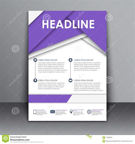 information flyer template template flyer with information for advertising stock