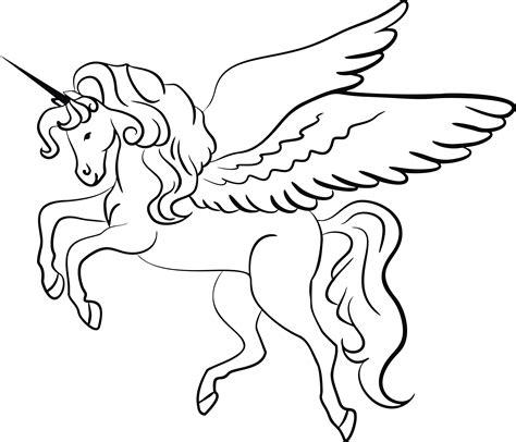 unicorn clipart black and white free clipart of a lineart unicorn black and white