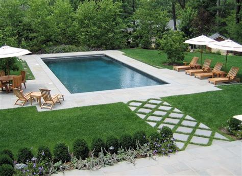 landscape ideas around pool rectangle pool landscaping ideas pdf