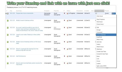 Scrum Standup Plugins For Jira And Confluence Scrum Daily Standup Template