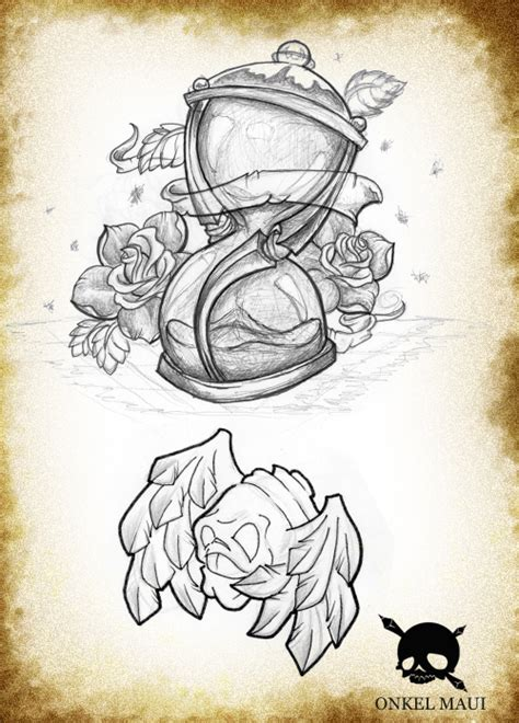 hourglass drawing tattoo deviantart pictures to pin on