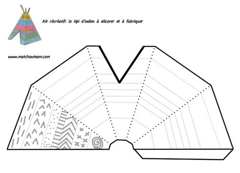 teepee template printable 17 best images about proyecto indios on