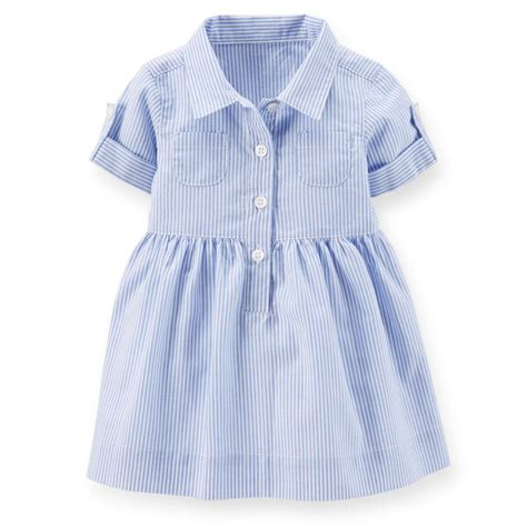 Dress Merk Carters 1 carters 3 6 months striped polo dress baby clothes cotton blue sleeve ebay