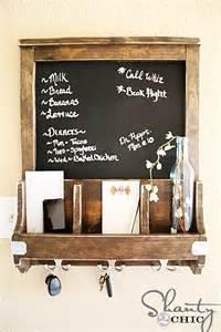 entryway wall organizer diy chalkboard and key hooks shanty 2 chic