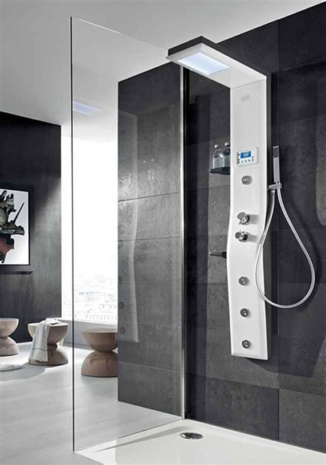 Shower Column Etoile Thermostatic Shower Column Offers Chroma Therapy