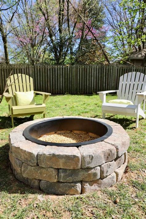 how to build a pit in your backyard i used a