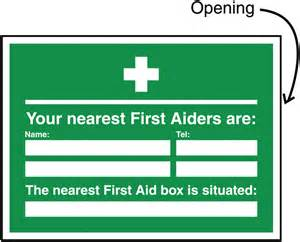 Your nearest first aiders are update sign holders updatesign9