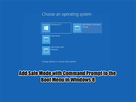 windows 8 reset password in safe mode add safe mode with command prompt to the boot menu in