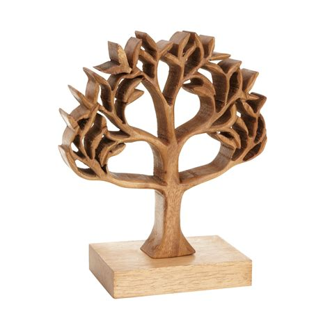 Wooden Ornament debenhams wooden cutout carved tree ornament from