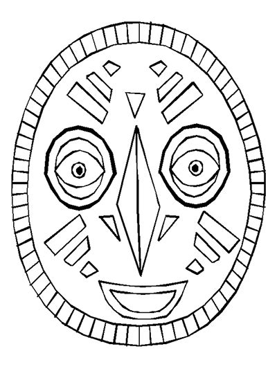 free coloring pages of african masks