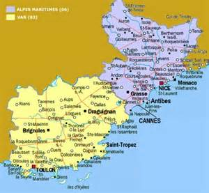 Map Of The South Of France by South Of France Map Free Printable Maps