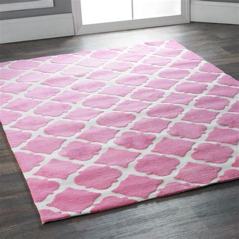 pink trellis rug silky soft trellis rug available in 2 colors green and ivory pink a