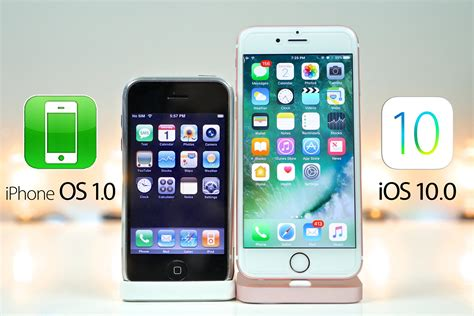 0 iphone x iphone os 1 0 vs ios 10 0 what s changed in 9 years