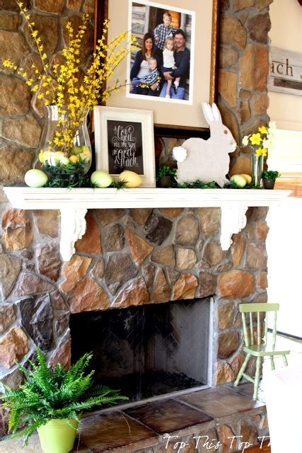 Easter Mantel Decorations by Easter Mantle Idea Home Decor