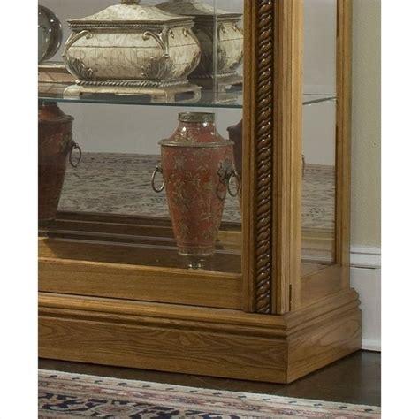 Pulaski Oak Curio Cabinet by Pulaski Estate Oak Curio Cabinet 20484