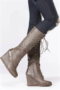 qupid calf length wedge boots cicihot boots catalog
