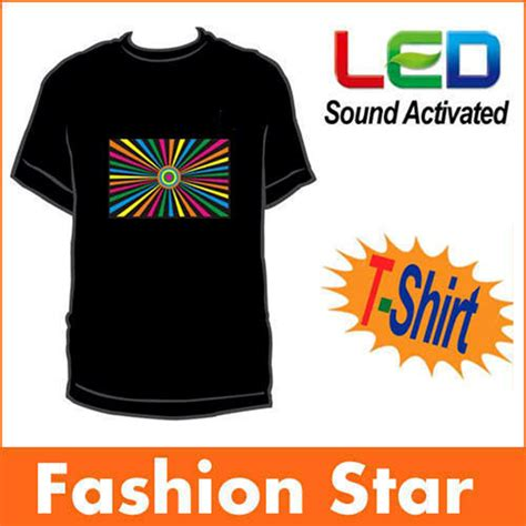 light up shirt el panel tshirts sound activated light up tshirt the