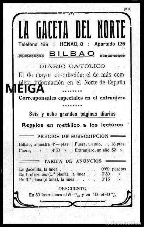 p90 - la gaceta del norte. periodico. diario. b - Comprar