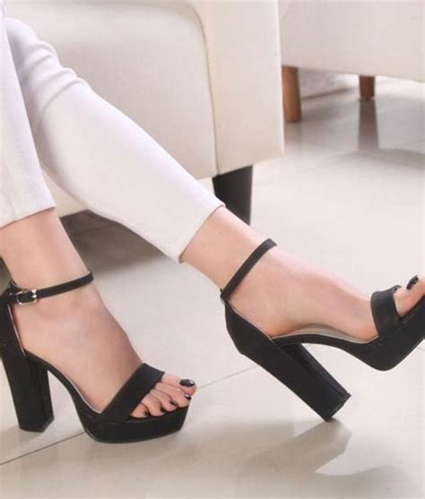 open toe sandal heels ankle buckle open toes thick heels sandals high heel