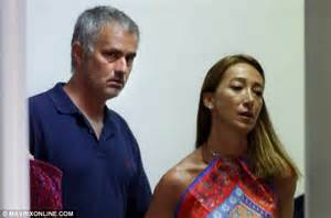 Relaxed jose mourinho left and his wife matilde leave mykonos