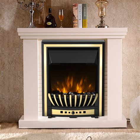 2kw remote modern electric fireplace led