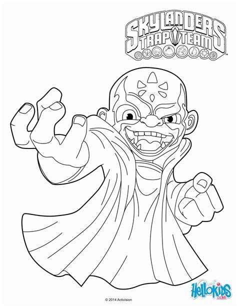 How To Make Coloring Pages From Photos | how to make skylanders trap team coloring pages kaos