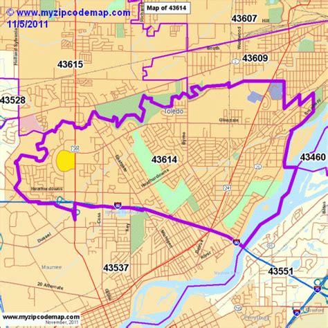 Zip Code Map Toledo Ohio   zip code map of 43614 demographic profile residential