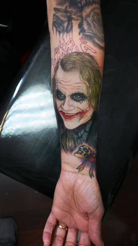tattoo the joker heath ledger nate teasdale portfolio