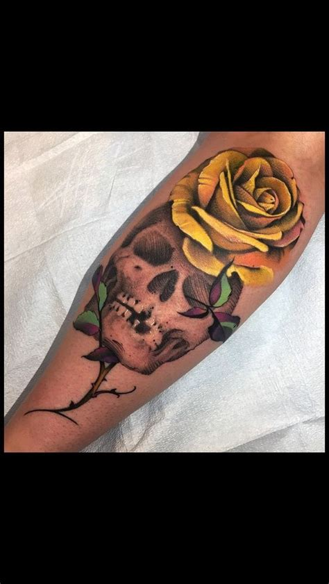 rose tattoo i wish want want want this skull and tattoos