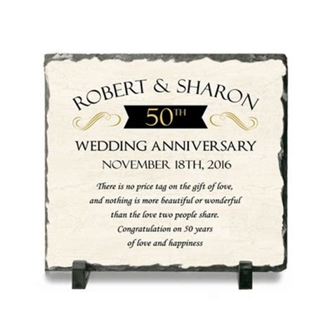 Wedding Anniversary Stones by Personalized Anniversary Gifts 25th 50th Wedding